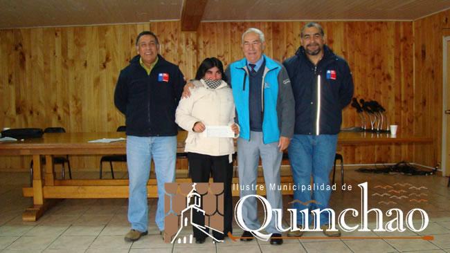 NUEVOS AGRICULTORES DE LA COMUNA DE QUINCHAO SON FAVORECIDOS CON BONO DE INDAP